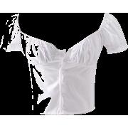 Front row bubble sleeve short sleeve T-s - Shirts - $25.99