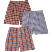 Fruit of the Loom Men's 3-Pack Assorted Tartan Plaids Woven Boxers - Underwear - $11.75