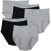 Fruit of the Loom Men's 5-Pack Wardrobe Briefs Black/Grey - Underwear - $12.00