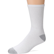 Fruit of the Loom Men's 6-Pack Cushion Crew Sock White - Underwear - $9.98