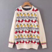 Fruit pattern jacquard sweater - Maglioni - $35.99  ~ 30.91€