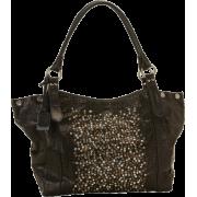 Frye Deborah Shiny Washed Goat Shoulder Bag Black - Bag - $498.00