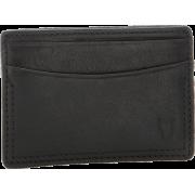 Frye James Card Tumbled Full Grain Wallet Black - Wallets - $77.50