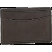 Frye James Card Tumbled Full Grain Wallet Dark Brown - Wallets - $77.50