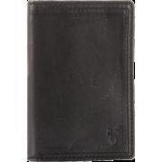 Frye James Small Tumbled Full Grain Wallet Black - Wallets - $117.50