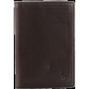 Frye James Small Tumbled Full Grain Wallet Dark Brown - Wallets - $117.50