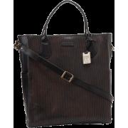 Frye James Veg Cut Leather DB436 Tote Dark Brown - Bag - $598.00
