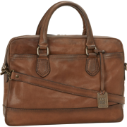 Frye James Work Zip Tumbled Full Grain DB116 Briefcase Taupe - Hand bag - $598.00