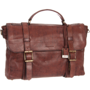 Frye Logan Flap Brief Case Dark Brown - Hand bag - $477.95
