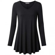 Furnex Women's Long Sleeve V Neck Shirts Loose Fit Swing Tunic Tops - Camisa - curtas - $26.99  ~ 23.18€