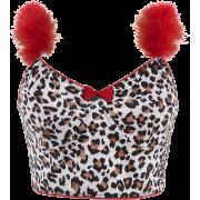 Fur stitching sleeve leopard print ultra - Košulje - kratke - $19.99  ~ 126,99kn