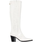 GANNI Western 60mm croc-effect knee-high - ブーツ -