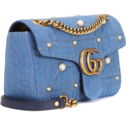 GG Marmont Medium denim shoulder bag - Bolsas pequenas -