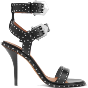 GIVENCHY Elegant studded leather sandals - Sandały -