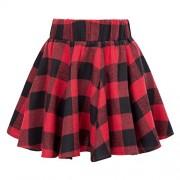GRACE KARIN Kids Girls High Waisted Elastic Waist Flared A-Line Mini Skirt CL10660 - Skirts - $8.99
