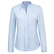 GRACE KARIN Office Lady Collared Chiffon Blouse Long Sleeve CLAF0212 - Shirts - $15.99