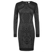 GRACE KARIN Sequined Beaded Embellishment Long Sleeve Pencil Evening Party Dress CL1007 - Dresses - $24.99