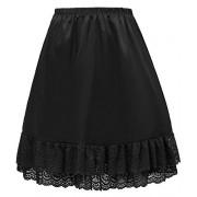 GRACE KARIN Women Double Layered Satin Skirt Extender Lace Half Slip CLAF0416 - Underwear - $10.99