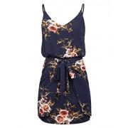 GRACE KARIN Women Floral Print Dress Spaghetti Strap V Neck Mini Dress CLAF0075 - Dresses - $20.99
