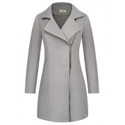 GRACE KARIN Women Long Sleeve Open Front Warm Zipper Jacket Coat with Pockets - Outerwear - $5.99