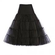 GRACE KARIN Women's 50s Vintage Petticoat Crinoline Tutu Underskirts Tea Length 30 inch Long - Underwear - $9.99
