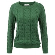 GRACE KARIN Women's Casual Long Sleeve Knit Pullover Sweater Blouse Top - Shirts - $17.99