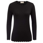 GRACE KARIN Women's High Stretchy Long Sleeve Pullover Sweater Blouse Top - Shirts - $21.99