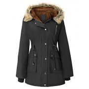 GRACE KARIN Womens Hooded Fleece Line Coats Parkas Faux Fur Jackets with Pockets - Outerwear - $59.99