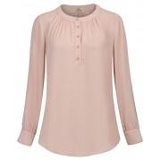 GRACE KARIN Women's Scoop Neck Long Sleeve Chiffon Tops CLAF0277 - Shirts - $17.99