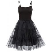 GRACE KARIN Women's Underdress Spaghetti Strap Full Slip 1950s Vintage Petticoat Crinoline Tutu Underskirts S-XXL - Underwear - $15.99