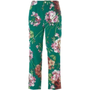 GUCCI BLOOMS PRINT PYJAMA SILK PANTS - Capri & Cropped - $590.00  ~ ¥3,953.20
