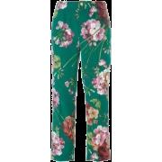 GUCCI BLOOMS PRINT PYJAMA SILK PANTS - Capri & Cropped - $590.00