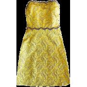 GUCCI BUSTIER YELLOW BROCADE JACQUARD MI - Dresses - $1,600.00