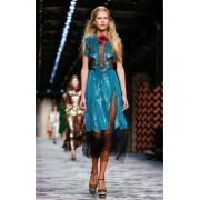 GUCCI EMBROIDERED TULLE DRESS - 连衣裙 - $4,500.00  ~ ¥30,151.51