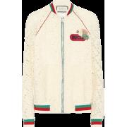 GUCCI Lace cotton-blend bomber jacket - Chaquetas -