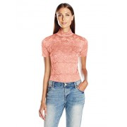 GUESS Women's Short Sleeve Shannon Mock Neck Top - Shirts - $39.00