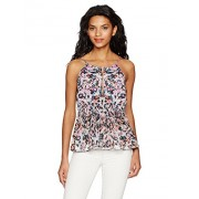 GUESS Women's Sleeveless Perla Shirred Halter Top - Shirts - $41.99
