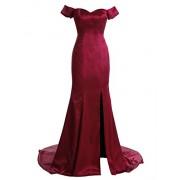 Gardenwed Gorgeous Off The Shoulder Long Mermaid Silk Satin Prom Dress Formal Dress - Dresses - $199.99