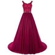 Gardenwed Long Prom Dresses Lace Wedding Bridal Gown Evening Gowns - Vestiti - $239.99  ~ 206.12€