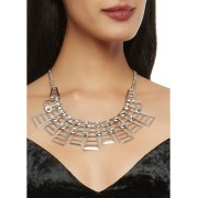 Geometric Collar Necklace with Bracelets and Stud Earrings - Bransoletka - $7.99  ~ 6.86€