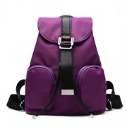 Girl's Nylon Drawstring Backpack Durable Travelin School Bag Anti-theft Pocket - Bag - $28.87