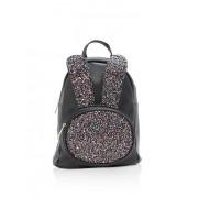 Glitter Bunny Ear Faux Leather Backpack - Backpacks - $17.99