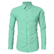 GloryStar Men's German Bavarian Oktoberfest Shirt Button Down Checkered Shirt for Lederhosen - Accessories - $19.99