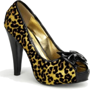 Gold Cheetah Glitter Print Sexy Pin Up Pump - 5 - Sandálias - $47.60  ~ 40.88€