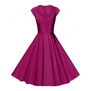 GownTown Womens Dresses Party Dresses 1950s Vintage Dresses Swing Stretchy Dresses - Dresses - $22.99