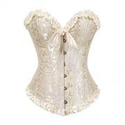 Grebrafan Embroidered Corset Waist Slimming Bustier - Underwear - $4.55