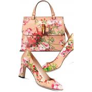 Gucci floral shoes and bag - Torebki -