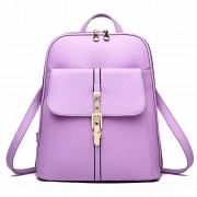 H.TAVEL®new Fashion Women Girl Leather Mini School Bag Travel Backpack Rucksack Shoulders Bag Satchel (Purple) - Bag - $35.00