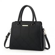 H.Tavel Womens'S Fashion Quilted Lattice Leather Handbags Shoulder Bag Medium Size Messenger Satchel - Bag - $23.99