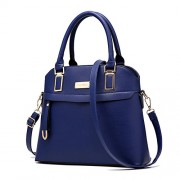H.Tavel Womens Top Handle Shell Shape Medium Tote Purse Handbag Convertible Satchel - Bag - $35.00